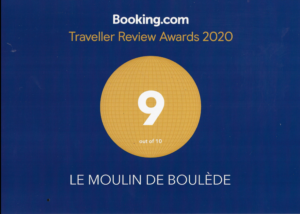 Award de Booking.com 2020, note de 9 sur 10